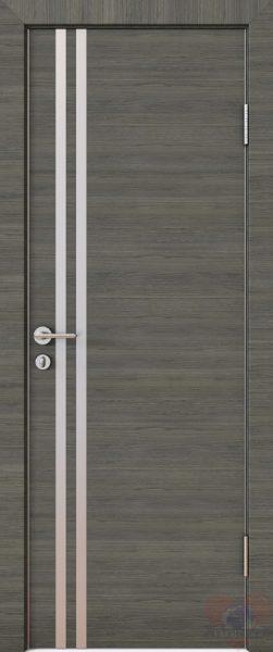 Дверь межкомнатная ПВХ с алюминиевой кромкой